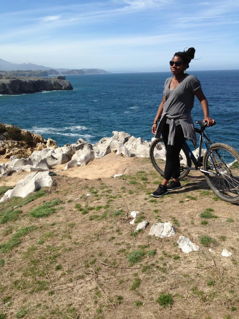 Biking near Nueva Llanes